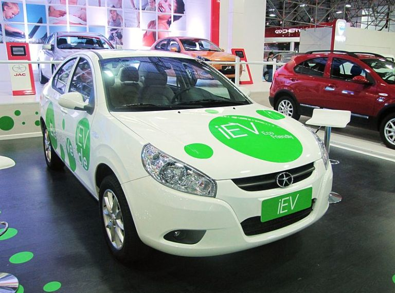 The JAC iEV - one of China's top selling electric cars in 2013